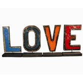 "Moonshine ""LOVE"" Letters on a Stand Figurine"