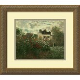 "The Artist's Garden at Argenteuil by Claude Monet, Framed Print Art - 13.74"" x 15.74"""