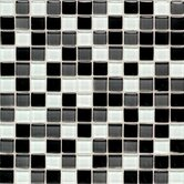 "Legacy Glass 1"" x 1"" Mosaic Tile in Black Blend"