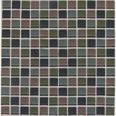 "Legacy Glass 1"" x 1"" Mosaic Tile in Smokey Blend"