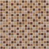 "Legacy Glass 5/8"" x 5/8"" Glass & Stone Mosaic Tile in Wheat Field Blend"