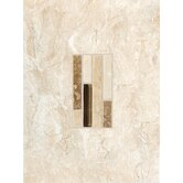 Torre Venato 9&quot; x 12&quot; Glazed Porcelain Decorative Wall Tile in Crema