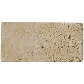 3&quot; x 6&quot; Tumbled Travertine in Mocha