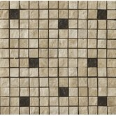 "1"" x 1"" Travertine Split Face Mosaic in Element Beige"