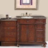 "Victoria 56"" Single Sink Bathroom Vanity Cabinet"