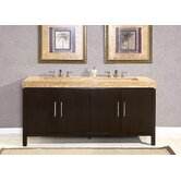 "72"" Stanton Modern Bathroom Double Vanity Integrated Sink Cabinet"