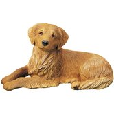Original Size Curious Golden Retriever Sculpture