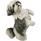 Original Size Shih Tzu Sculpture in Silver / White