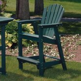 Adirondack Shell Back Outdoor Bar Chair - EnviroWood