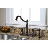 Charlestown Two Handle Kitchen Faucet with Matching Side Spray