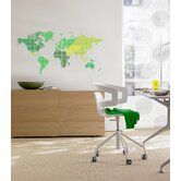 Euro World Map Wall Decals