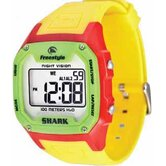 Killer Shark Watch in Gloss Red / Yellow / Green