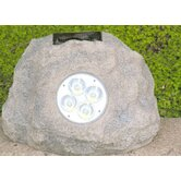 Solar Power Jumbo Rock Spot Light in Grey (Set of 3)