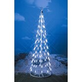 49&quot; String Light Christmas Cone Tree in White