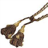 Sage Brick Gold Chenille Fabric Tassel Set
