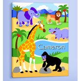 Wild Animals Personalized Canvas Art