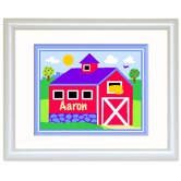 Country Farm Personalized Print with White Frame
