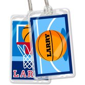 Basketball Personalized Name Tag Set