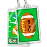 Football Personalized Name Tag Set