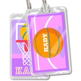 Basketball Girls Personalized Name Tag Set