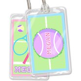 Tennis Personalized Name Tag Set
