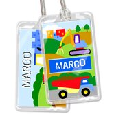 Under Construction Personalized Name Tag Set