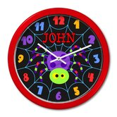 Halloween Spider Personalized Clock