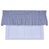 Bristol Two-Tone Plaid Tailored Valance Window Curtain in Blue