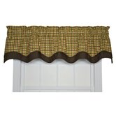 Charlestown Check Bradford Valance Window Curtain in Brown
