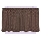 Tremblay / Tyvek Diamond Tailored Tier Curtains in Brown
