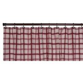 Large Scale Plaid Bathroom Shower Curtain in Red