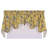 Jeanette Lined Duchess Valance Window Curtain in Yellow
