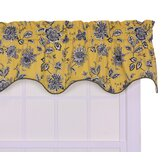 Jeanette Lined Duchess Filler Valance Window Curtain in Yellow