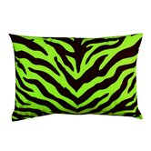 Lime Zebra Oblong Pillow