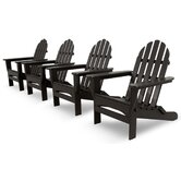 Ivy Terrace Classics 4 Piece Folding Adirondack Seating Group