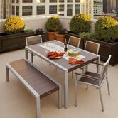 Trex Outdoor Surf City 6 Piece Dining Set