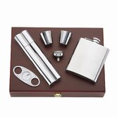 That's Entertainment 5 Piece Flask/Cigar Set