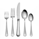 Gorham Fairfax 5 Piece Flatware Set with Cream Soup Spoon