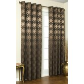 Hologram Circles and Squares Top Curtain Panel
