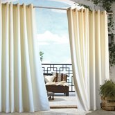 Outdoor D&eacute;cor Gazebo Outdoor Solid Grommet Top Curtain Panel in Natural