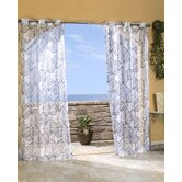 Outdoor Décor Biscayne Sheer Polyester Banana Leaf Grommet Top Curtain Panel