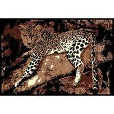 African Adventure Leopard on Tree 3 Novelty Rug