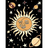 African Adventure Sun-Moon Novelty Rug