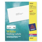 30 Labels 10 Sheets Mailing Label in White