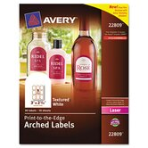 Textured Arched Easy Peel Labels, 90/Pack