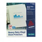 Top-Load Sheet Protectors, Heavy Gauge, Letter, Non-Glare, 50/Box