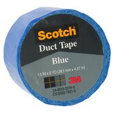 1.5&quot; X 5 Yards Blue Scotch&reg; Duct Tape 1055-BLU-1P
