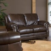 Solomon Italian Leather Loveseat