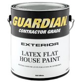 1 Gallon Flat White Exterior Latex House Paint 44-555 GL