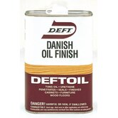 1 Quart Clear Natural Deftoil Danish Oil Finish 070-04